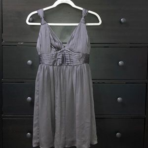 Gray Knotted Strap Dress by BCBGeneration